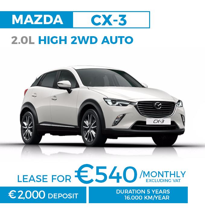 Autobahn Malta » Leasing offer – Mazda CX-3